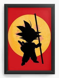 Quadro Decorativo A3 (45X33) Dragon Ball Goku - Nerd e Geek - Presentes Criativos