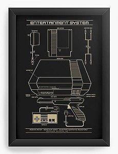 Quadro Decorativo A3 (45X33) Entertainment System - Nerd e Geek - Presentes Criativos