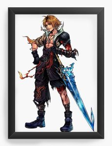 Quadro Decorativo A3 (45X33) Final Fantasy - Nerd e Geek - Presentes Criativos
