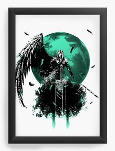 Quadro Decorativo A3 (45X33) Final Fantasy VII - Final Battle - Nerd e Geek - Presentes Criativos