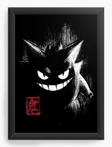 Quadro Decorativo A3 (45X33) Gengar - Nerd e Geek - Presentes Criativos