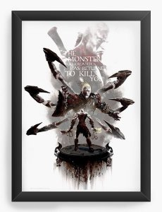 Quadro Decorativo A3 (45X33) God of War - Nerd e Geek - Presentes Criativos