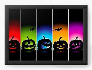 Quadro Decorativo A3 (45X33) Halloween Colors - Nerd e Geek - Presentes Criativos