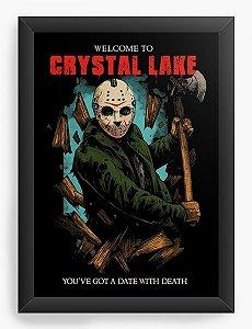 Quadro Decorativo A3 (45X33) Jason Crystal Lake - Nerd e Geek - Presentes Criativos