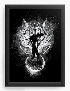 Quadro Decorativo A3 (45X33) Kingdom Hearts - Cloud - Nerd e Geek - Presentes Criativos