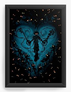 Quadro Decorativo A3 (45X33) Kingdom Hearts Feel the Darkness - Nerd e Geek - Presentes Criativos