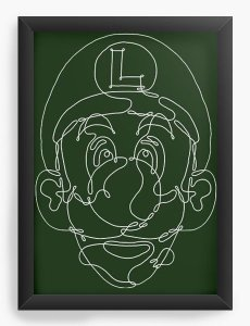 Quadro Decorativo A3 (45X33) Luigi - Nerd e Geek - Presentes Criativos