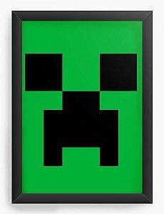 Quadro Decorativo A3 (45X33) Minecraft - Nerd e Geek - Presentes Criativos