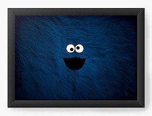 Quadro Decorativo A3 (45X33) Moster Cookie - Nerd e Geek - Presentes Criativos