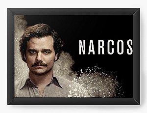 Quadro Decorativo A3 (45X33) Narcos - Serie - Nerd e Geek - Presentes Criativos
