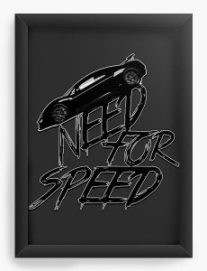 Quadro Decorativo A3 (45X33) Need For Speed - Nerd e Geek - Presentes Criativos