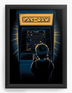 Quadro Decorativo A3 (45X33) Pac-Man - Nerd e Geek - Presentes Criativos