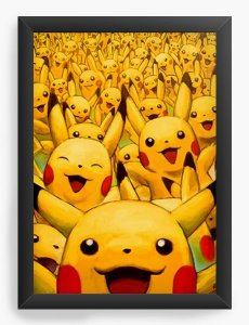 Quadro Decorativo A3 (45X33) Pikachu - Nerd e Geek - Presentes Criativos