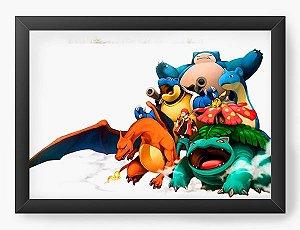 Quadro Decorativo A3 (45X33) Pokemon - Nerd e Geek - Presentes Criativos