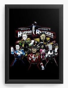 Quadro Decorativo A3 (45X33) Rangers  - Nerd e Geek - Presentes Criativos