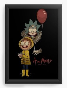 Quadro Decorativo A3 (45X33) Rick and Morty It - Nerd e Geek - Presentes Criativos