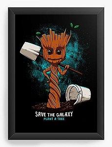 Quadro Decorativo A3 (45X33) Save The Galaxy