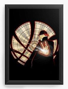 Quadro Decorativo A3 (45X33) Sherlock Holmes - Nerd e Geek - Presentes Criativos