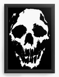 Quadro Decorativo A3 (45X33) Skull - Nerd e Geek - Presentes Criativos