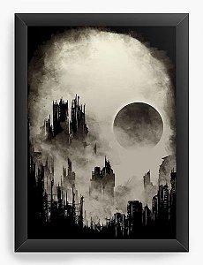 Quadro Decorativo A3 (45X33) Skull City - Nerd e Geek - Presentes Criativos