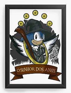 Quadro Decorativo A3 (45X33) Sonic O Senhor dos Aneis - Nerd e Geek - Presentes Criativos