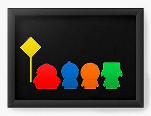 Quadro Decorativo A3 (45X33) South Park Colorful - Nerd e Geek - Presentes Criativos