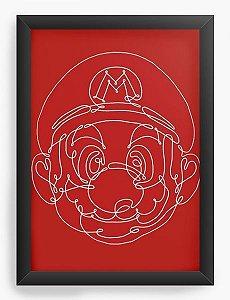 Quadro Decorativo A3 (45X33) Super Mario Bros - Nerd e Geek - Presentes Criativos