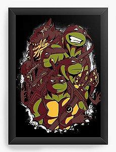 Quadro Decorativo A3 (45X33) The Green Team - Nerd e Geek - Presentes Criativos