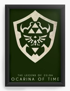 Quadro Decorativo A3 (45X33) The Legend of Zelda - Nerd e Geek - Presentes Criativos