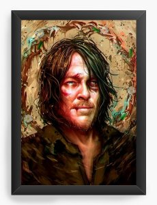 Quadro Decorativo A3 (45X33) The Walking Dead - Daryl Dixon - Nerd e Geek - Presentes Criativos