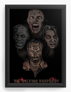 Quadro Decorativo A3 (45X33) The Walking Rhapsody - Nerd e Geek - Presentes Criativos