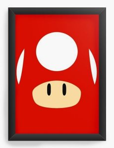 Quadro Decorativo A3 (45X33) Toad - Nerd e Geek - Presentes Criativos