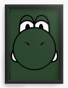 Quadro Decorativo A3 (45X33) Yoshi - Game - Nerd e Geek - Presentes Criativos