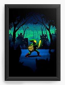 Quadro Decorativo A3 (45X33) Zelda - Link - Nerd e Geek - Presentes Criativos