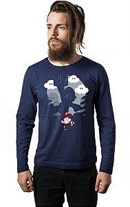 Camiseta Masculina Manga Super Mario - Nerd e Geek - Presentes Criativos