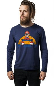 Camiseta Masculina Manga Longa Super Mario - Nerd e Geek - Presentes Criativos