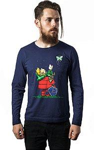 Camiseta Masculina Manga Longa Zelda - Nerd e Geek - Presentes Criativos