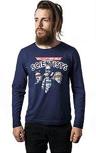 Camiseta Masculina Manga Longa Albert Einstein  - Nerd e Geek - Presentes Criativos