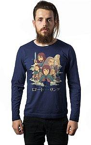 Camiseta Masculina Manga Longa Senhor dos Aneis  - Nerd e Geek - Presentes Criativos