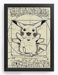 Quadro  Decorativo A3 45X33 Pokemon Pikachu - Nerd e Geek - Presentes Criativos