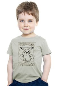 Camiseta Infantil Pokemon Pikachu - Nerd e Geek - Presentes Criativos
