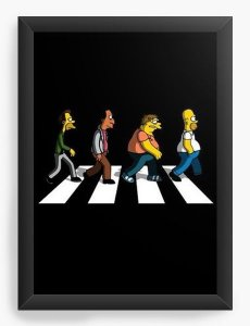 Quadro Decorativo A4 (33X24) Simpsons Beatles - Nerd e Geek - Presentes Criativos