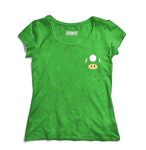 Camiseta Feminina Cogumelo - Nerd e Geek - Presentes Criativos