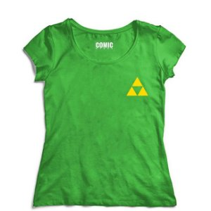 Camiseta Feminina Triforce- Nerd e Geek - Presentes Criativos