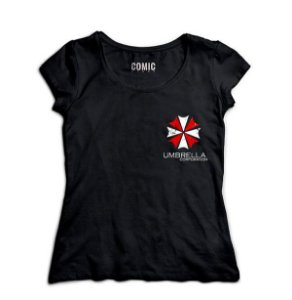 Camiseta Feminina Resident Evil Umbrella Corporation - Nerd e Geek - Presentes Criativos