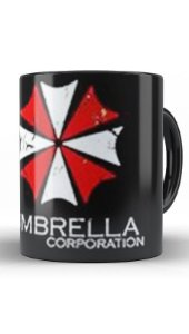 Caneca Resident Evil Umbrella Corporation - Nerd e Geek - Presentes Criativos
