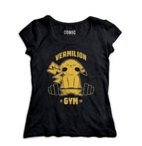 Camiseta Feminina Pokemon Vermilion Gym - Nerd e Geek - Presentes Criativos