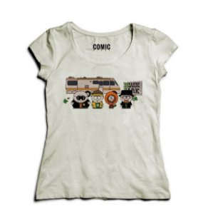 Camiseta Feminina  Breaking Park - Nerd e Geek - Presentes Criativos
