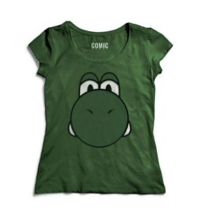 Camiseta Feminina Yoshi - Game - Nerd e Geek - Presentes Criativos