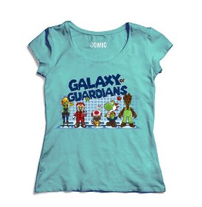 Camiseta Feminina Galaxy of Guardians- Nerd e Geek - Presentes Criativos